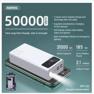 Remax RPP-162 Mengine Series 50000mAh Powerbank 4 USB Ports Large Capacity