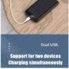 REMAX Leader 2 USB 10000mAh Multiple Input Power Bank RPP-139 Black