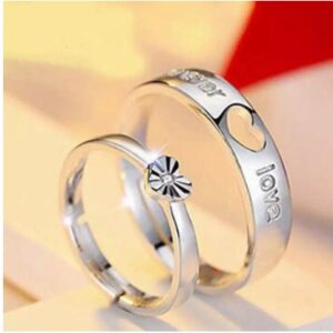Luxury Design Alloy Finger Ring for Couple