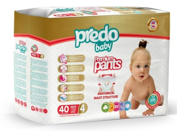 Baby Diaper Pants Large 40 Pcs Made In Turkey